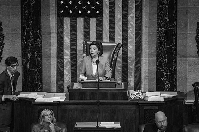 Speaker of the House of U.S. Representatives Nancy Pelosi has been a leader in the impeachment 