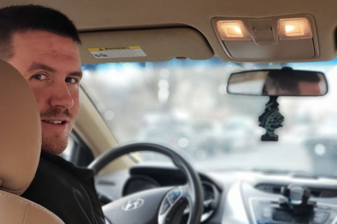 Zachary Avis, local Lyft and Uber driver, looks forward to more consistent work and more room for growth. - CAYLA CLARK