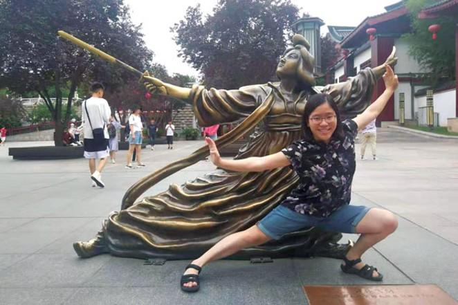 Linnea in Xi'an, China - COURTESY OF LINNEA LANE