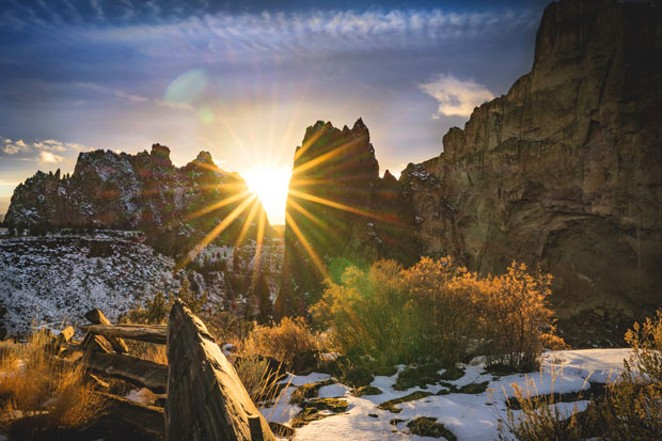 Smith Rock State Park is a popular climbing destination all year round, but during the winter it supplies climbers with some of the best conditions in the area. - CLINT MCKOY, UNSPLASH