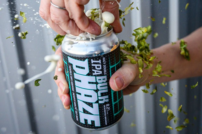 As this picture suggests, Bulk pHaze is an explosion of flavor and ingredients. - COURTESY DESCHUTES BREWERY
