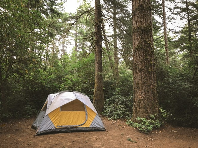 A tent somewhere near Florence, OR. - CRISTOFER JESCHKE/UNSPLASH