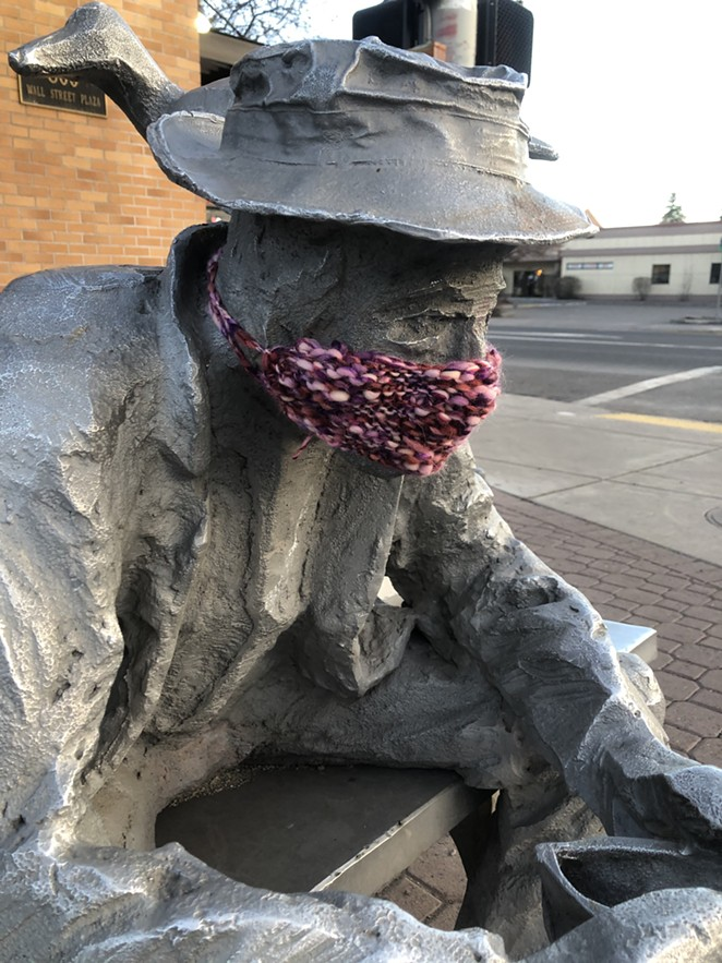 A sign of the times in downtown Bend Sunday. - NICOLE VULCAN