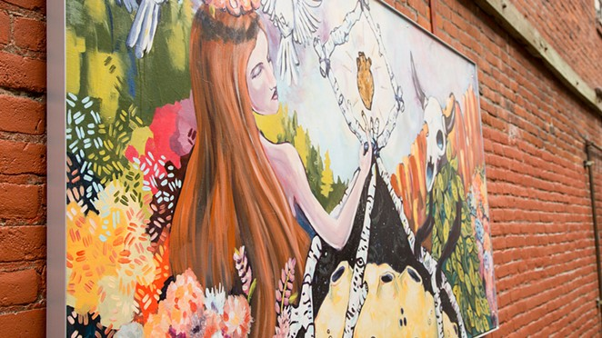 Artwork in Tin Pan Alley in downtown Bend, funded through the Bend Cultural Tourism Fund. - VISIT BEND