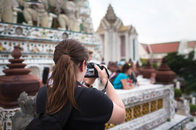 BRIDGES: Thailand 2018 participant Ellie Perryman documenting her time at a Thai temple - COURTESY CAMP FIRE CENTRAL OREGON/BETH BABICZ