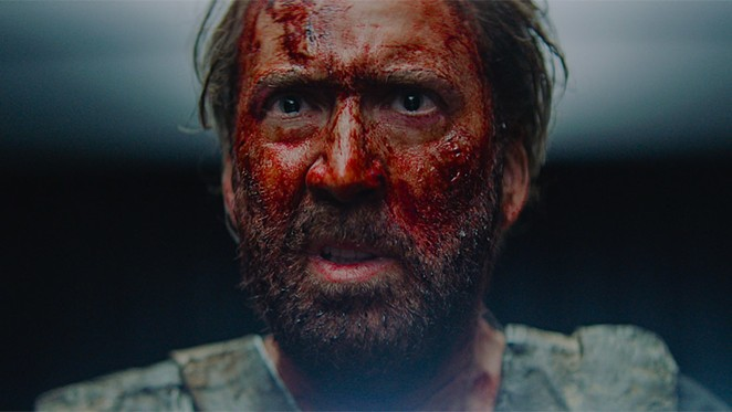 """Hey, Nick! Funny seeing you here. From the film, """"Mandy."""" - COURTESY XYZ FILMS"""