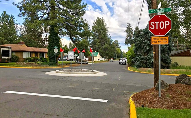 Bend's Neighborhood Greenways project was intended to allow for more pedestrian activity on streets such as NE 6th, and SW 15th—but until now, those streets were still heavily used by cars. - CITY OF BEND VIA FACEBOOK