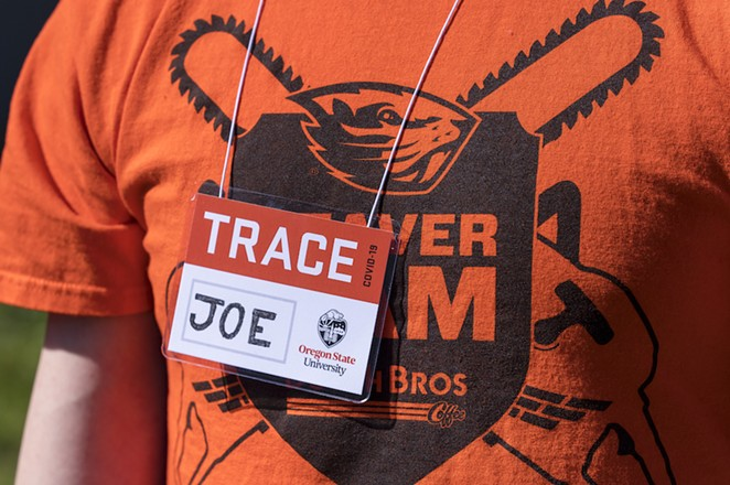 A member of the field staff for OSU's TRACE-COVID-19 study. - OREGON STATE UNIVERSITY