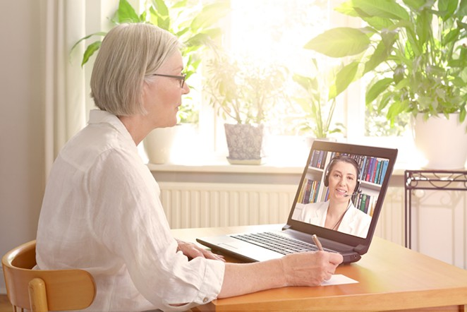 Deschutes County Behavioral Health conducts 90% of its appointments via telehealth, due to the COVID-19 pandemic. - ADOBE STOCK