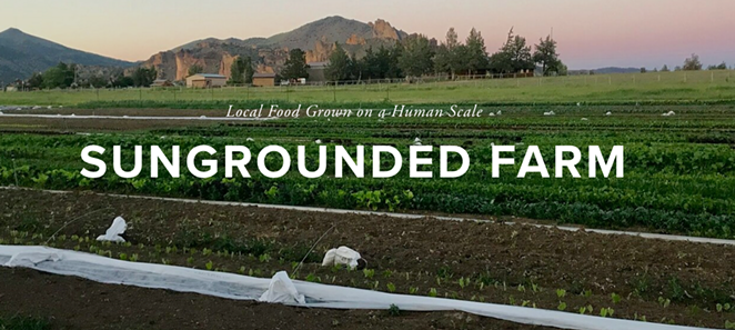 Sungrounded Farm near Smith Rocks State Park in Terrebonne was started two years ago by Ashley Petersen and Caleb Thompson. - SUNGROUNDED FARM
