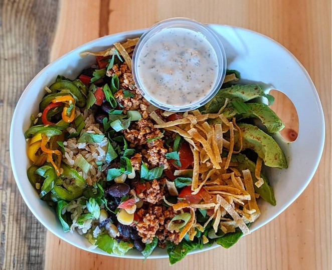 A dish from Deeply Rooted. - DEEPLY ROOTED