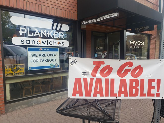 Being restricted to to-go and delivery hasn't hurt Planker Sandwiches too much, though the owner of the local restaurant is looking forward to reopening. - CAYLA CLARK