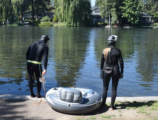Source File Photo: Kea Eubank and Miranda Campbell at Pioneer Park in September. - ISAAC BIEHL
