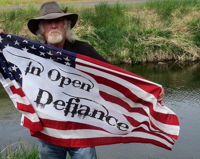 Rick Steber hosts an 'open defiance' party at his shop every Saturday. - RICK STEBER