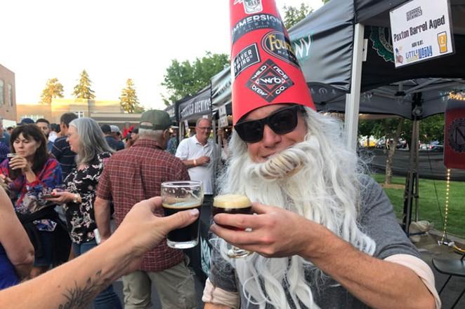 The Little Woody barrel-aged beer fest. - NICOLE VULCAN