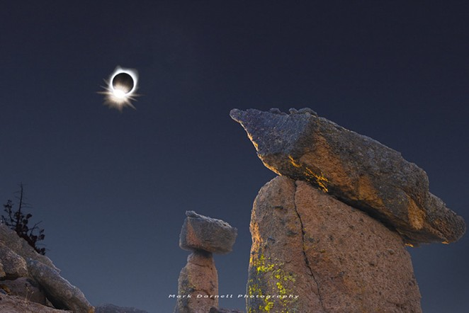 """The """"diamond ring"""" of the 2017 solar eclipse. - MARK DARNELL"""