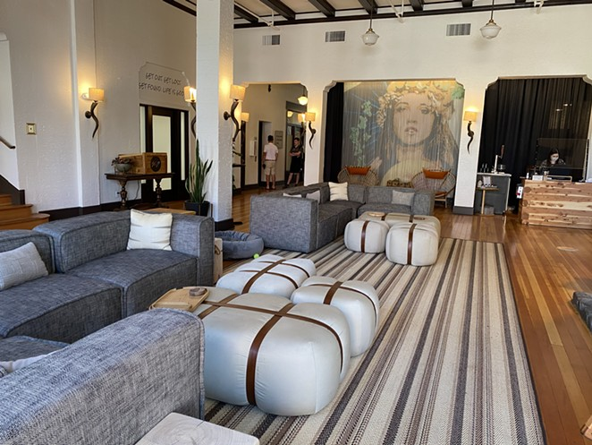 The lobby of SCP Hotel Redmond: The 49-room boutique hotel is Redmond's first high-end full-service hotel, but without the price tag. As of June 30, rooms start at $111. - LAUREL BRAUNS