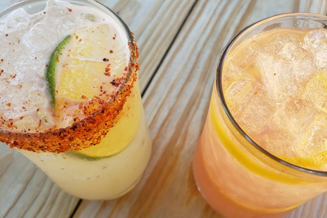 A Paloma and a Hub 55 in all of their delicious, refreshing glory. - CAYLA CLARK