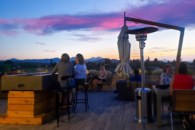 Another beautiful sunset enjoyed at the SCP Rooftop bar. Come for the cocktails, stay for the incredible view. - CAYLA CLARK