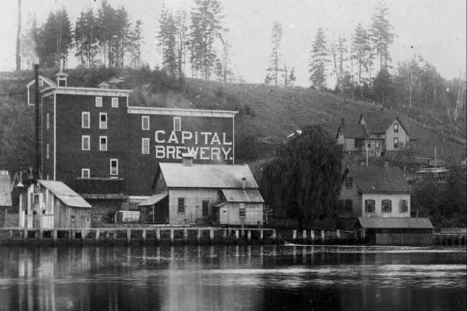 The original Capitol Brewery before the name changed to Olympia Brewing. - BY THEORIGINALOLYMPIA.COM