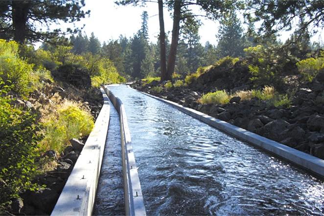 Unpiped irrigation canals lose water through evaporation and seepage. - COURTESY STINGRAY COMMUNICATIONS