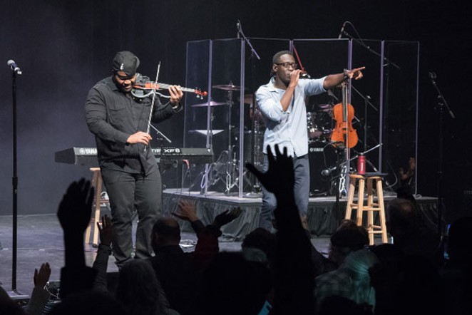 Black Violin performs at the Tower Theatre, which will open its doors for the first time in months on July 17 with a movie premiere. - COURTESY TOWER THEATER