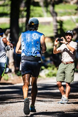 """Mario Mendoza, Jr. during the """"Western States 100"""" 100 mile race. He finished 16th out of 299 people. - PAUL NELSON"""