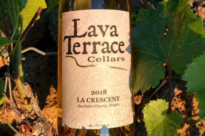 One of Lava Terrace Cellar's award-winning wines – their 2018 La Crescent. - LAVA TERRACE CELLARS