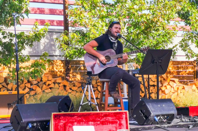 Michalis Patterson plays a set during Save The Music Saturdays. - COURTESY SILVER MOON