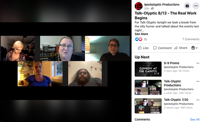 A chat Thursday with some of the attendees of Wednesday's protest, hosted by Katy Ipock. - IPOCKOLYPTIC PRODUCTIONS