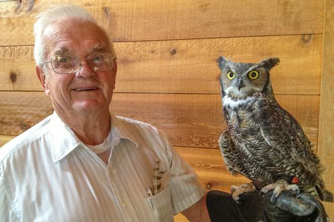 Jim Anderson with one of his favorite residents of the Natural World. - SUE ANDERSON