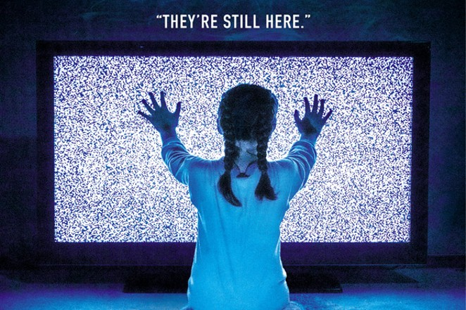 """A version of this week's Source Weekly cover, in which we re-imagined the """"Poltergeist""""movie tag line, """"They're Here,"""" to apply to the current situation of parents with kids at home—indefinitely, it seems. - DARRIS HURST"""