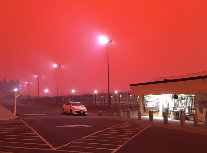 Inmates from the Oregon State Correctional Institution on the east edge of Salem were moved Tuesday to the Oregon State Penetentiary in downtown Salem, along with inmates from two other facilities due to wildfire risk. - OREGON DEPARTMENT OF CORRECTIONS