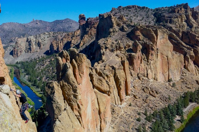 A bird's-eye view of Smith Rock State Park's many rock faces. - COURTESY MAX TEPFER