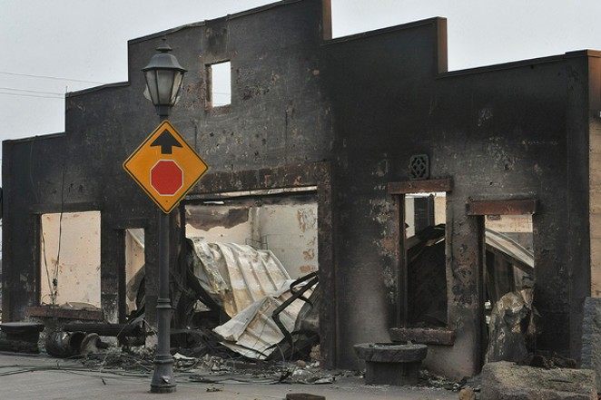 Much of Talent (north of Ashland) was left decimated by the Almeda Fire that tore through town on Sept. 8. The Jackson County Sheriff's Department reported Monday that three people have died. - COURTESY MAIL TRIBUNE, BY DENISE BARATTA