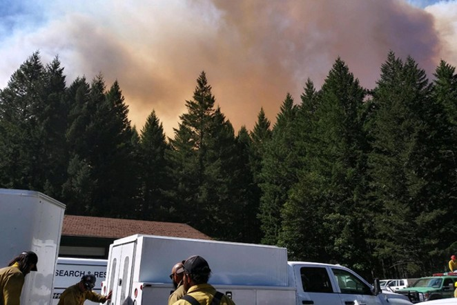 """Chief Rainbow, aka Christina Rainbow Plews, says people thought she was being overzealous when she issued a Level 3 """"Go Now"""" order for Vida and its environs the night the Holiday Farm Fire spread. She's now credited with saving many lives. - JAY PENSE"""