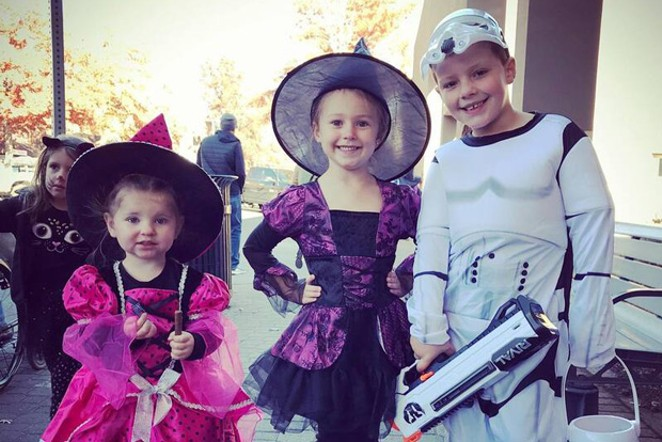 Costumed kids participate in last year's Halloween festivities – pre-COVID. - COURTESY DBBA