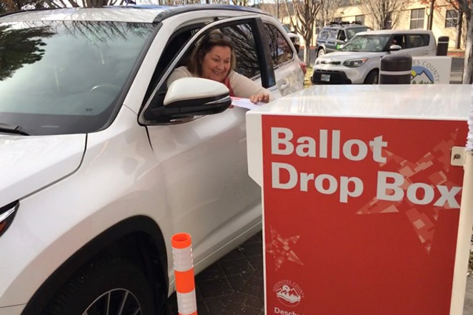 A voter casts a last-minute ballot Tuesday afternoon. - DARRIS HURST
