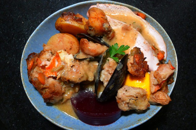 Seafood stuffing--mussels, clams and oysters, oh my! - ARI LEVAUX