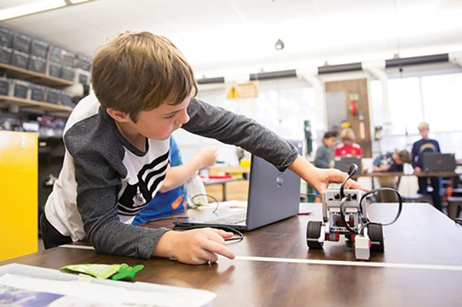 For kids who love to problem solve and build, LEGO League Robotics is a winner! - COURTESY CAMP FIRE