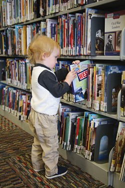 Everyone loves to choose a book of their own. - COURTESY DESCHUTES PUBLIC LIBRARY