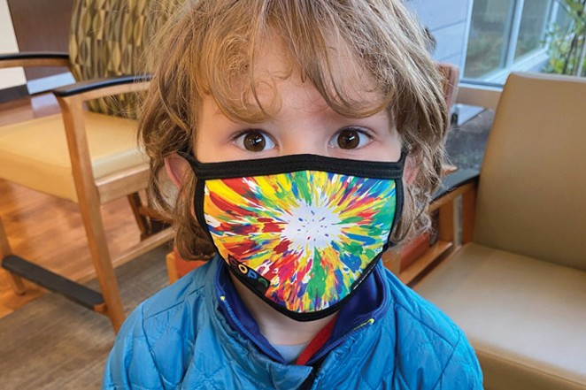 COPA patients and their siblings enjoy the comfort of a Blackstrap mask. - COURTESY COPA