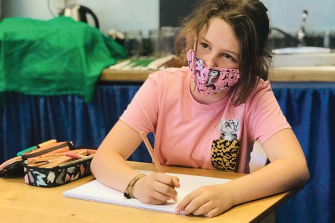 5th grader, Sophia Gregory, attends class at the Bend Waldorf School - COURTESY OF BEND WALDORF SCHOOL