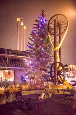 Seeking some holiday feels? Soon the Tree of Joy will illuminate the Old Mill. - COURTESY OLD MILL DISTRICT