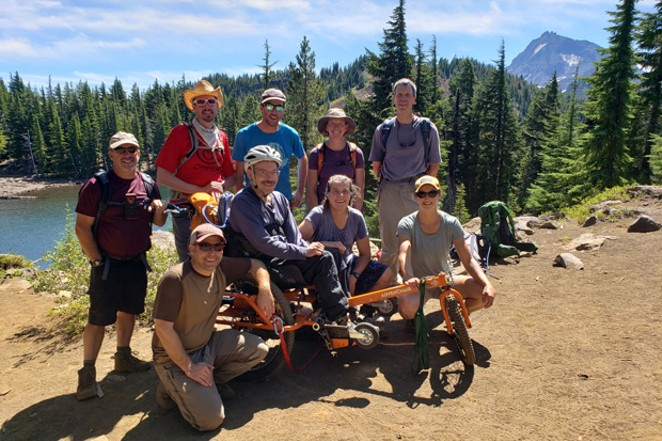 An excrusion to Mathieu Lake with a crew of friends and supporters. - COURTESY ADVENCHAIR