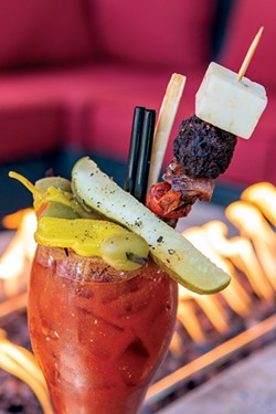 The Victorian Café's Proud Mary bloody marys are the stuff of dreams—but if you order it to go, you'll have to assemble the many glorious ingredients yourself. - COURTESY THE VICTORIAN