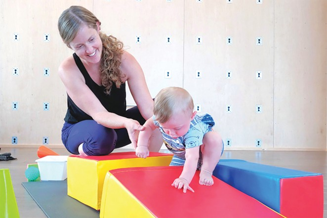 Mindfully moving with your little one builds bonds and healthy habits for mommas and kids! - COURTESY FREE SPIRIT  YOGA + FITNESS + PLAY