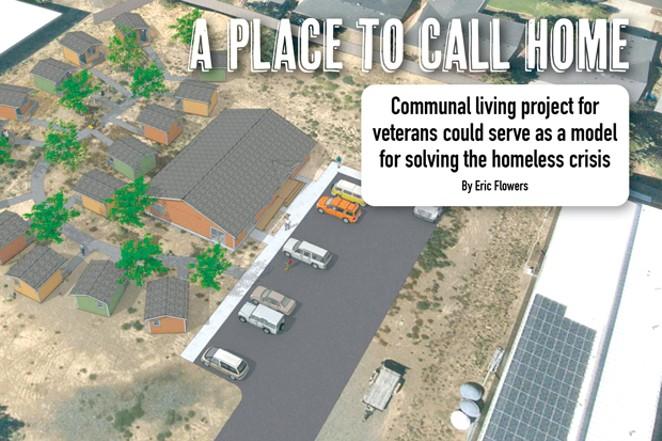 Above is a bird's eye view of what the Central Oregon Veterans Village will look like when completed. - COURTESY CENTRAL OREGON VETERANS VILLAGE