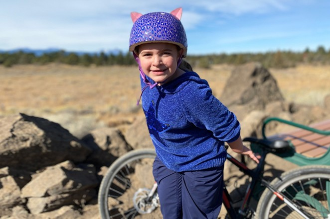 Technically right on the border of the Mountain View and Boyd Acres neighborhoods, Pine Nursery is a fun park for skates, bikes and dogs—and kids wearing kitty helmets. - NICOLE VULCAN