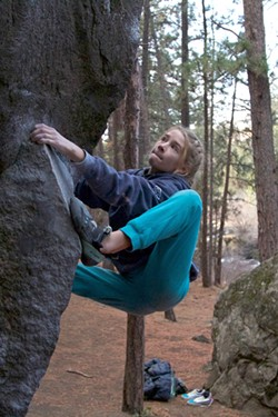 Shae McCarl was inspired by older climbers. - SUBMITTED